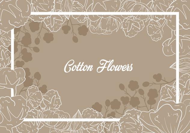 Cotton Flower Illustration - vector gratuit #411017