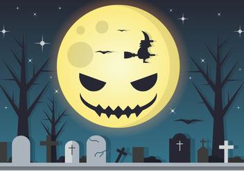 Spooky Moon Halloween Vector - Kostenloses vector #411047