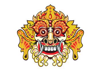 Bright Barong Mask - Free vector #411257