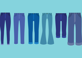 Free Blue Jeans Icons Vector - Free vector #411677