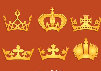 Gold British Crown Vector - vector gratuit #411697