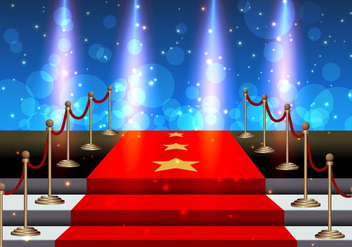 Stairs Covered Red Carpet - vector gratuit #411767