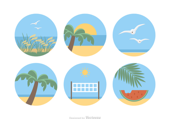 Free Sea Landscape Vector Icons - Free vector #411797
