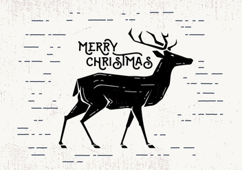 Free Christmas Deer Vector - бесплатный vector #411837