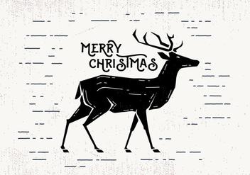 Free Christmas Deer Vector - vector #411837 gratis