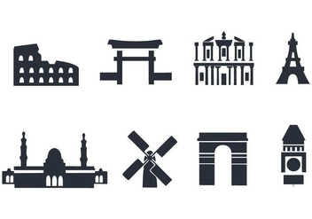 Free Landmark Icons Vector - Free vector #411967