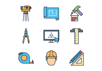 Free Architect Icons - vector gratuit #412017