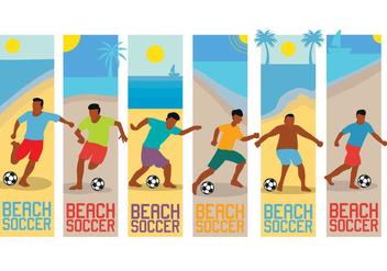 Beach soccer vector - Kostenloses vector #412087