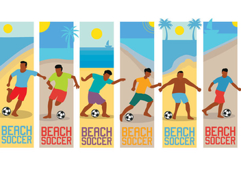 Beach soccer vector - Free vector #412087