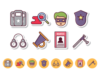 Free Police Icon Set - vector #412107 gratis