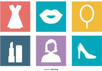 Women Stuff Icon Collection - Free vector #412127
