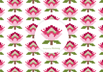 Free Protea Pixel Vector Pattern - Free vector #412147