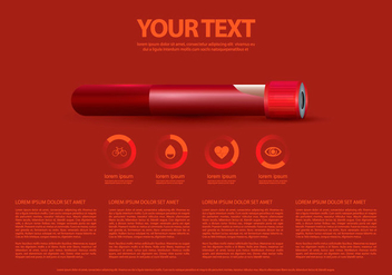 Heart Rate And Blood Infographic Template - Kostenloses vector #412167
