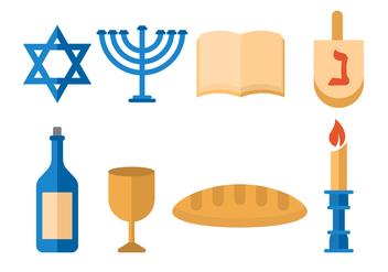 Free Shabbat Jewish Vector - vector gratuit #412177