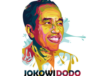Joko Widodo - President - Popart Portrait - Free vector #412187