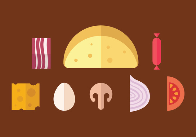 Omelete vector icons - Free vector #412267