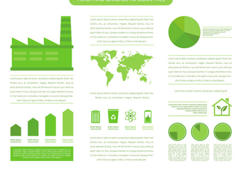Trash Landfill And Garbage Infographic Template - Free vector #412537