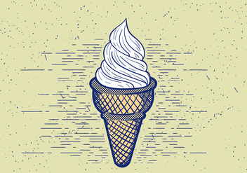 Free Vector Detailed Icecream Illustration - бесплатный vector #412547