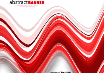 Vector Abstract Red Wavy Lines - vector gratuit #412767