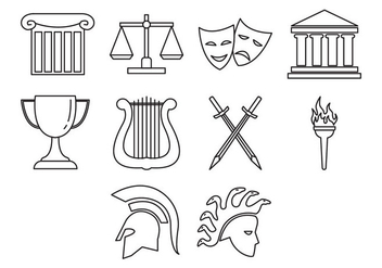 Free Greek Icon Vector - vector gratuit #412907