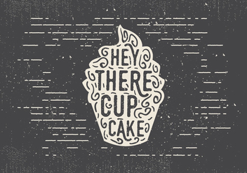 Free Hand Drawn Sweet Cupcake Background - vector #413197 gratis