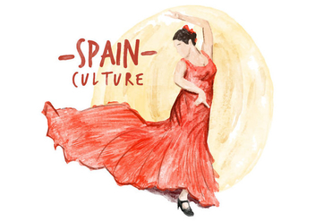 Free Spain Culture Watercolor Vector - Free vector #413247