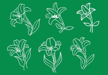 Easter Lily Vectors - бесплатный vector #413357