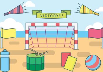 Free Beach Soccer Vector - Free vector #413367