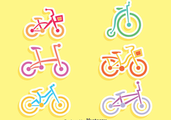 Nice Bicycle Vector Set - Kostenloses vector #413487