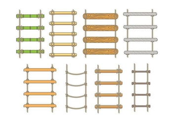 Rope Ladder Icons - vector #413527 gratis