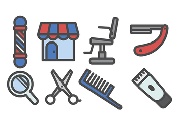 Barber Shop Icon Vector - Free vector #413577