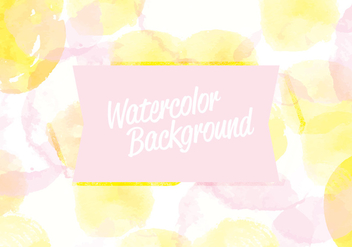 Vector Watercolor Background - vector gratuit #413667