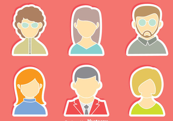 People Avatar Vector Set - Kostenloses vector #413717