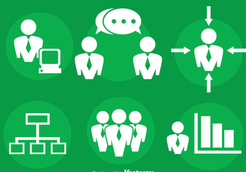 Meeting Point And Business Icons Vector - Free vector #413757