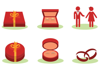 Ring Box Vector Set - Free vector #413877