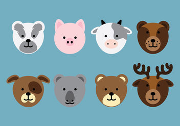 Animal Head Icon Vector - Free vector #413927