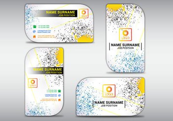 Vector illustration of business card colorfull - vector gratuit #413937