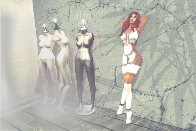 Tatjana leather dress by United Colors @ Mesh Body Addict - Free image #414037
