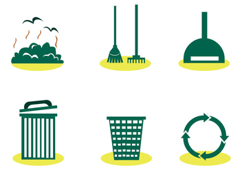 Landfill Trash Vector Set - бесплатный vector #414097