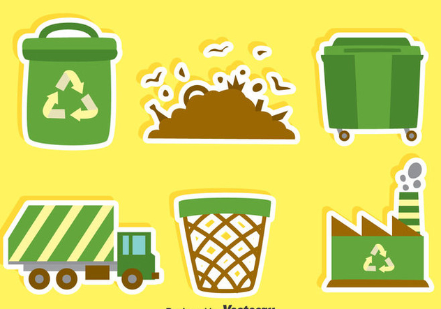 Flat Garbage Element Vector - Free vector #414367