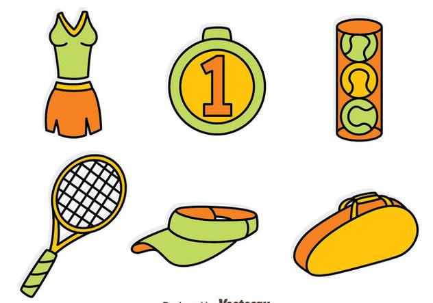 Tennis Element Vector Set - Kostenloses vector #414407