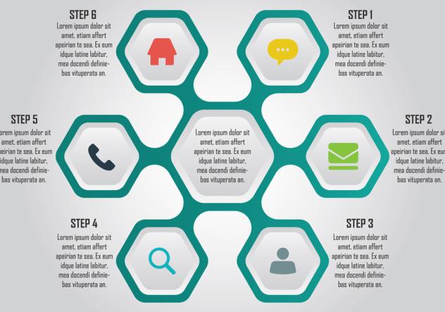 Hexagon Infographic Element - Kostenloses vector #414427