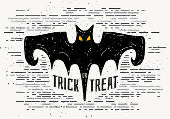 Free Halloween Bat Vector Illustration - vector gratuit #414457