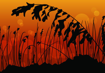 Sea Oats Sunset View - vector gratuit #414477