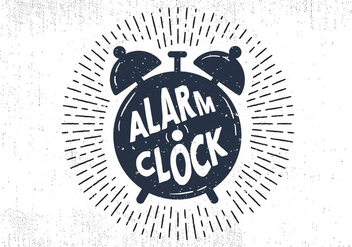Free Hand Drawn Alarm Clock Background - Free vector #414587
