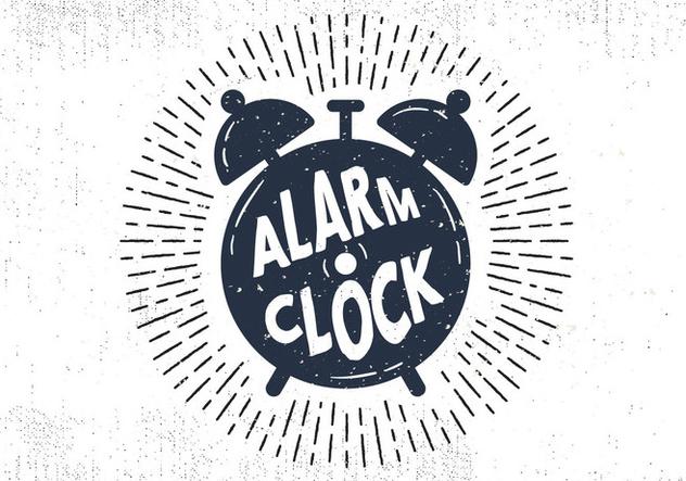 Free Hand Drawn Alarm Clock Background - Kostenloses vector #414587