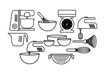 Free Baking Set Vector - vector #414707 gratis