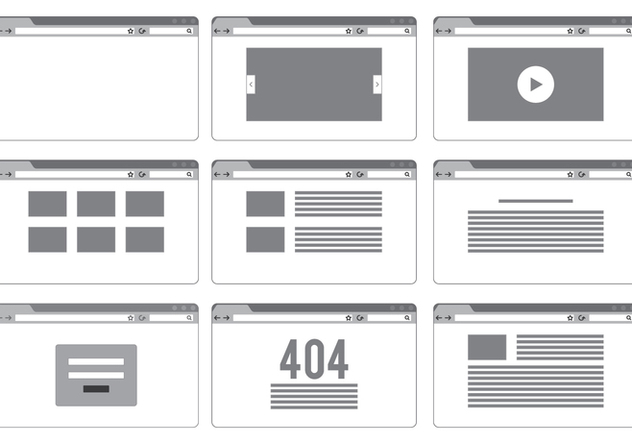 Blank Site Page Templates - vector #414887 gratis