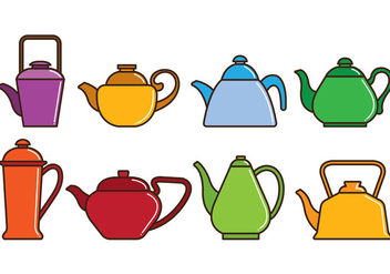 Set Of Teapot Icons - бесплатный vector #414897