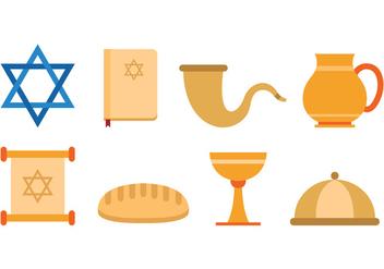 Set Of Shabbat Icons - Free vector #414997